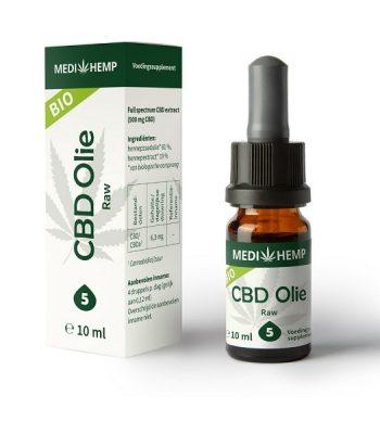 Aceite de cbd crudo medihemp 10 ml 500 mg cbd