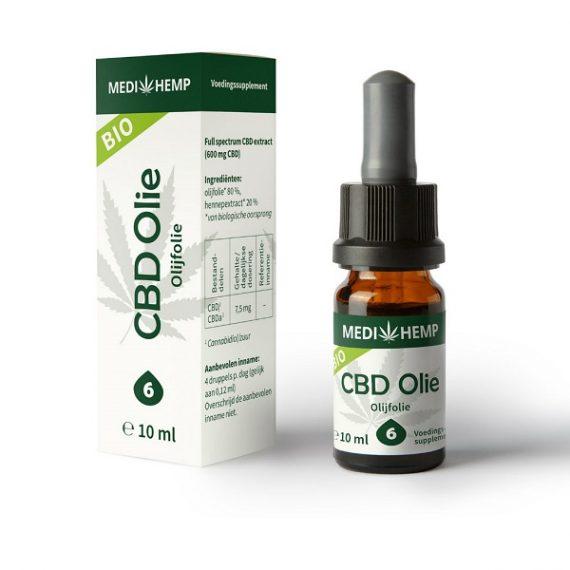 Aceite de cbd crudo medihemp 10 ml 600 mg cbd