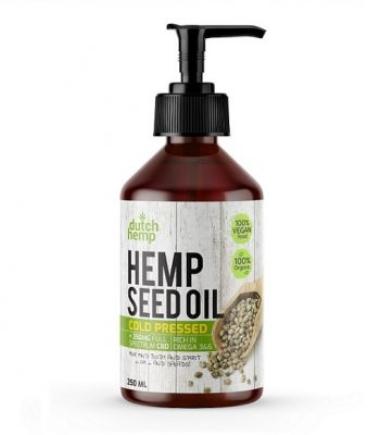 Aceite de semilla de cáñamo con CBD de Dutch Hemp