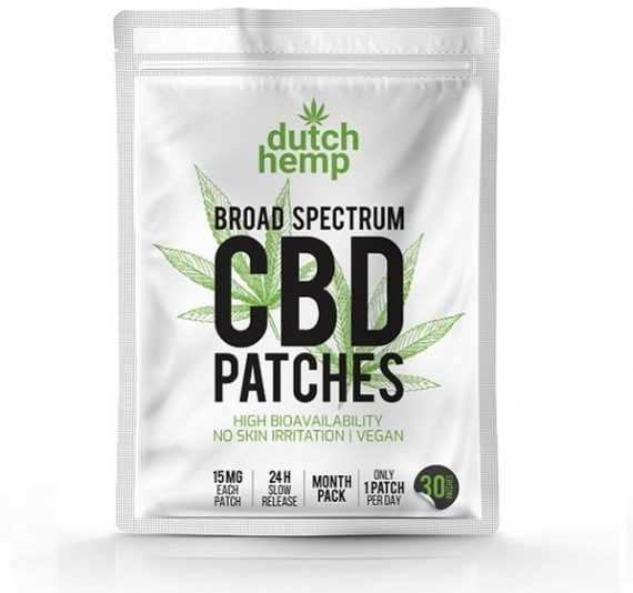 Apósitos con CBD de Dutch Hemp 450 mg CBD 1