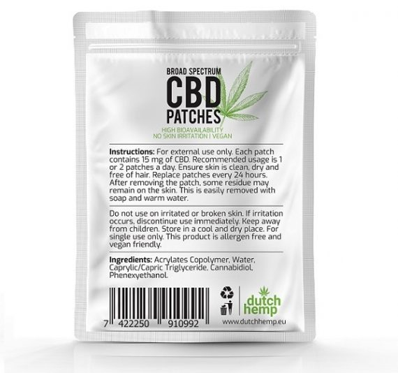 Apósitos con CBD de Dutch Hemp 450 mg CBD 2