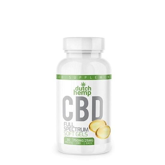 Cápsulas de CBD Dutch Hemp CBD – 30 unidades – 750 mg CBD