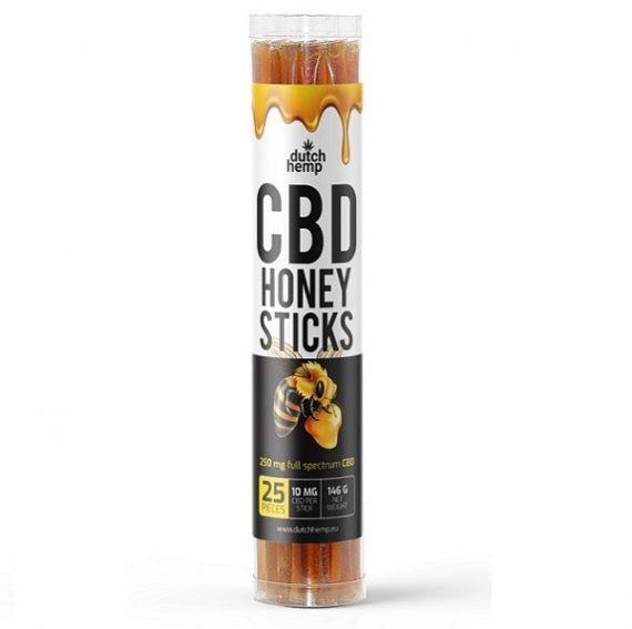 Palitos de miel con CBD de Dutch Hemp